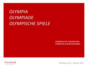 Werbung mit Olympischen Symbolen & Bezeichnungen Vorschaubild